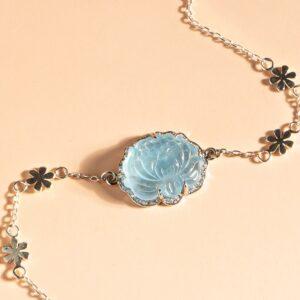 vòng tay hoa sen aquamarine