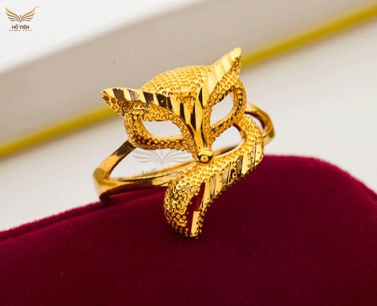 Nhẫn Hồ Ly vàng 24k - Vàng 9999